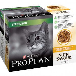 Pro Plan Nutrisavour Sterilised pâtée pour chat au poulet (85 g) 40 x 85g