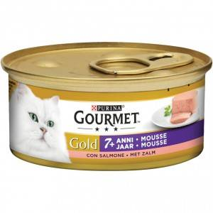 Gourmet Gold Chat Mousseline au Saumon Senior +7 1 x 24 boites (85g)