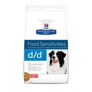 Hill's Prescription Diet Hill's Prescription D/D Food Sensitivities saumon et riz pour chien 12 kg + Hill's Hypoallergenic snack