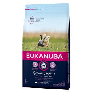 Eukanuba Dog Growing Puppy Toy Breed au poulet pour Chiot 2 x 2 kg