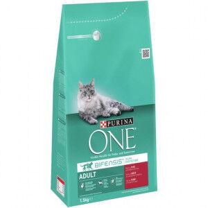 Purina One Adulte Boeuf céréales complètes pour chat 2 x 1,5 kg