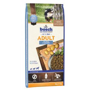 Bosch Adulte poisson et pommes de terre 15 + 3 kg gratuits