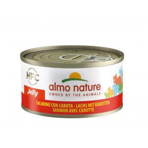 Almo Nature HFC Jelly Saumon et Carottes pour chat Par 24 portions (Jelly)