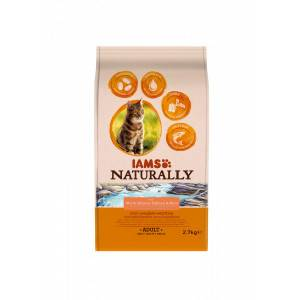 Iams Naturally Adulte Saumon & Riz pour chat 3 x 2,7 kg