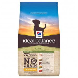 Hill's Ideal Balance Adult Medium Sans Céréales au Poulet pour chien 2 x 2 kg