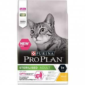 Pro Plan Sterilised Adult Optidigest pour Chat 10 kg + 2 x Felix Party Mix Snacks