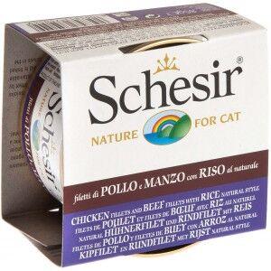 Schesir Chat - Natural, poulet boeuf et riz nr.179 14 x 85g