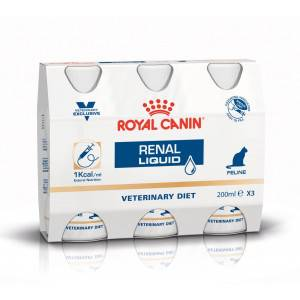 Royal Canin Veterinary Diet Renal Liquid pour chat 3 x 200 ml