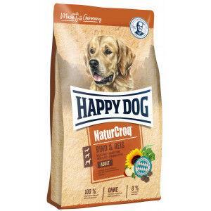 Happy Dog NaturCroq Boeuf Riz pour chien 15 kg