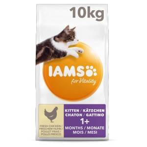 Iams for Vitality - Kitten au Poulet frais pour chaton 2 x 3 kg