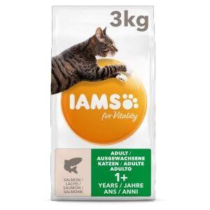Iams for Vitality – Adulte au Saumon pour Chat 3 kg