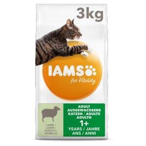 Iams for Vitality – Adulte à l'Agneau pour Chat 2 x 3 kg