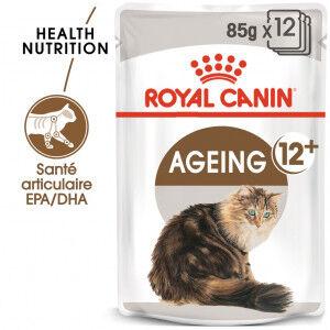 Royal Canin Ageing 12+ pour chat x12 sachets 2x En Gelée (24x85 gr)