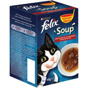 Felix Soup Original Selection de La Campagne pour Chat (6x48g) 8 x (6 x 48g)