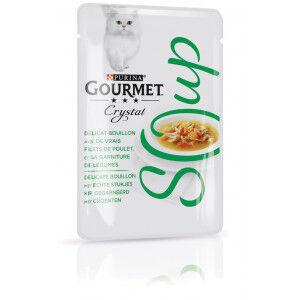 Gourmet Crystal Soup Poulet et Légumes pour chat (32x40g) 32 x 40g
