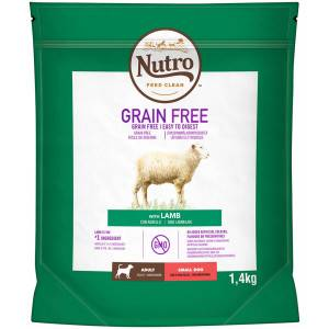 Nutro Grain Free Adult Small Agneau pour chien 3 x 1.4 kg