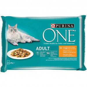 Purina One Adulte Poulet 85g pour chat 48 x 85 gram