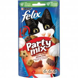 Felix Party Mix Mixed Grill pour chats FIN DE STOCK 4 x 60 gram