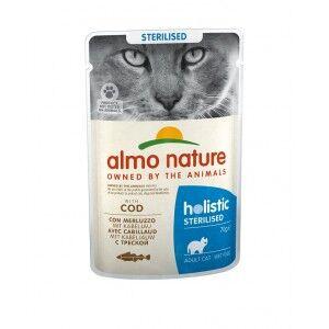 Almo Nature Sterilised Morue 70 g pour chat 60 x 70 gram