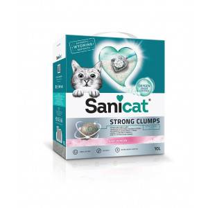 Sanicat Strong Clumps Litière pour chat 2 x 10 Litres
