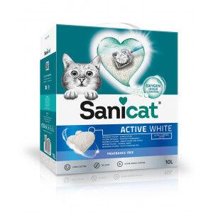 Sanicat Active White Litière pour chat 10 Litres