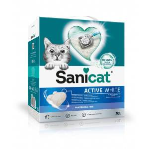 Sanicat Active White Litière pour chat 2 x 10 Litres