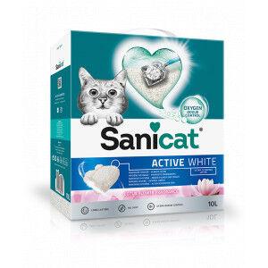 Sanicat Active White Lotus Flower Litière pour chat 2 x 10 Litres