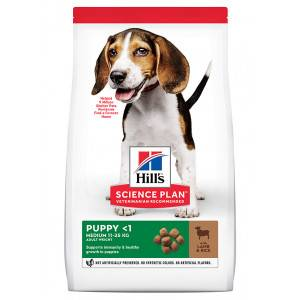 Hill's Prescription Diet Hill's Puppy Medium à l'agneau et riz pour chiot 2 x 14 kg