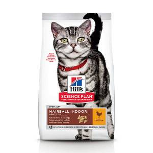 Hill's Adult Hairball Indoor avec poulet pour chat 10 kg