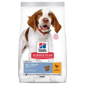 Hill's Adult Sans Céréale Medium au poulet pour chien 2 x 14 kg