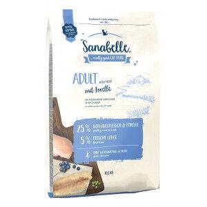 Sanabelle Adult à la truite pour chat 10 kg + 2 kg gratuit