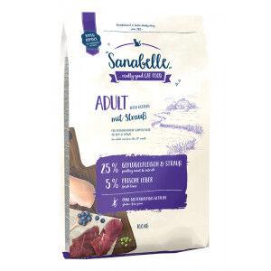 Sanabelle Adult à l'autruche pour chat 2 x 10 kg
