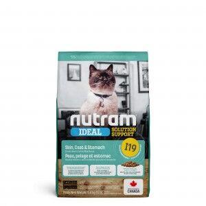Nutram Ideal Solution Support Sensitive Skin I19 Chat FIN DE STOCK 2 X 5,4 kg