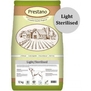 Prestano Light Sterilised pressées pour chiens 2 x 12 kg