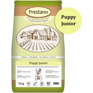Prestano Puppy Junior pressées pour chien 4 x 12 kg