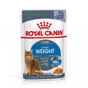 Royal Canin Light pâtée pour chat x12 1x Sauce + 1x Gelée (24x85 gr)