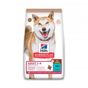 Hill's Adult Medium No Grain avec thon pour chien 2 x 14 kg