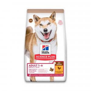 Hill's Adult Medium No Grain au poulet pour chien .2.5 kg