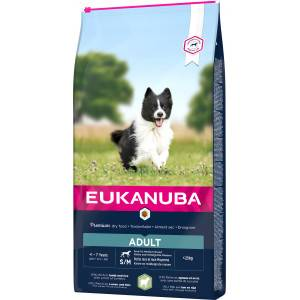 Eukanuba Adult Small Medium Breed agneau riz pour chien 3 x 2,5 kg