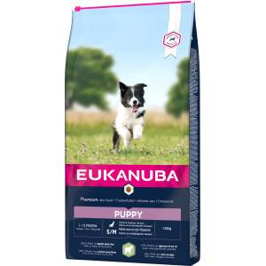 Eukanuba Puppy Small Medium à l'agneau & riz pour chien 12 kg