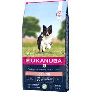 Eukanuba Senior Small Medium à l'agneau & riz pour chien 2 x 12 kg
