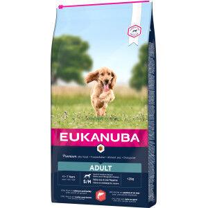 Eukanuba Adult Small Medium au saumon & orge pour chien 3 x 2,5 kg