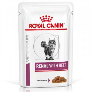 Royal Canin Veterinary Diet Royal Canin Renal Sachets Boeuf pour Chat 2 x (12 x 85g)
