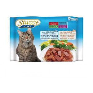 Stuzzzy Stuzzy Cat à la morue et saumon pâtée pour chat 4 x 100 gr. 2 dozen ( 20 x 400 gr.)
