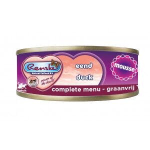 Renske mousse canard nourriture humide pour chat 70 grammes Par paquet  (24 x 70 g)