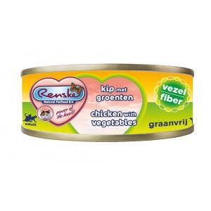 Renske fibres poulet avec légumes nourriture humide pour chat (70 gr) 24 x 70 gram