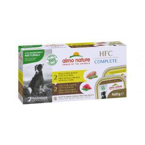 Almo Nature HFC Complete multipack au boeuf et au poulet pour chien Par 6 paquets ( 24 x 85 gram)