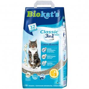 Biokat's Classic fresh 3in1 Cotton Blossom litière pour chat 10 Litres