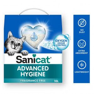 Sanicat Advanced Hygiene litière 10 Litres