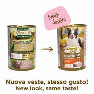 Stuzzzy Stuzzy Monoprotein à la dinde pâtée pour chien 400 gr. 4 Boîtes ( 24 x 400 gr.)